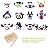 Unomor Halloween Pumpkin Decorating Craft Kit Stickers – Makes 24 Pumpkins