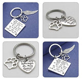 Pet Memorial Keychain,Engraving Lettering When Tomorrow Starts Without me&You are Always in My Heart Remembrance Angel Keychain Memorial Keychain Sympathy Gift for Him/Her