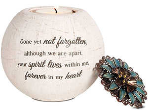 Forever in My Heart Terra Cotta Candle Holder, 4-Inch