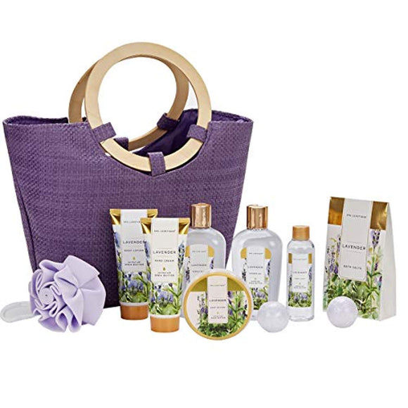 Spa Luxetique Lavender Spa Gift Baskets for Women, Premium 10pc Gift Baskets, Best Holiday Gift Sets