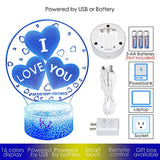 I Love You Gift 3D Night Light with 20 Color Changing Mode Touch