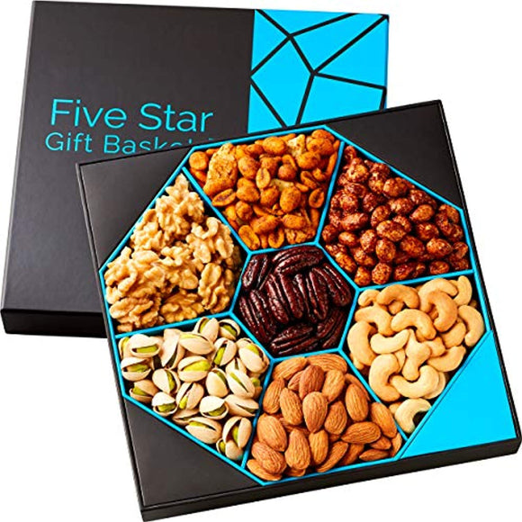 Holiday Nuts Gift Basket - Five Star Gift Baskets