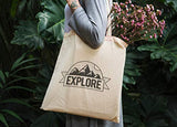 25 Pack Bulk Cotton Canvas Tote Bags Reusable Grocery Shopping Blank Tote Bags