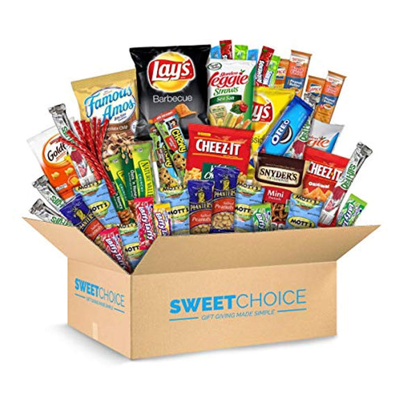 Sweet Choice (40 Count) Ultimate Sampler Mixed Bars, Cookies, Chips, Candy Snacks Box