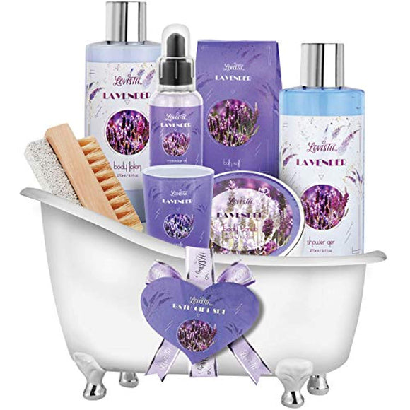 Relaxing Lavender Spa Bath Gift Baskets for Women-Girls