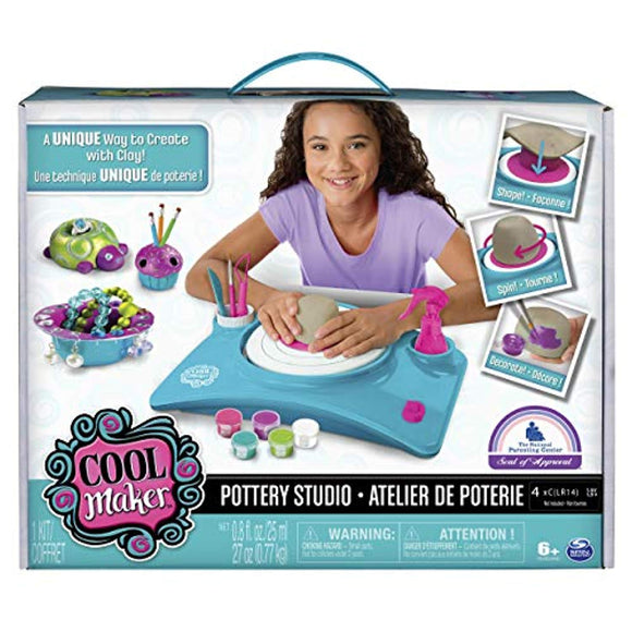 Cool Maker - Pottery Studio, Clay Pottery Wheel Craft Kit for Kids Age 6 and Up