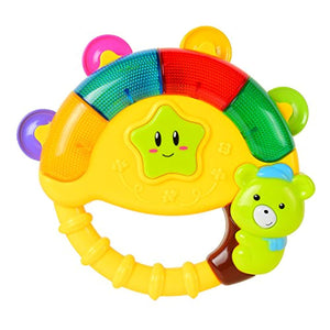 BAOLI Baby Bear Bell Toy Music Song Light(Colors May Vary Pink/Green/Yellow