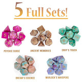 Cup of Illusion: 5 Complete Sets of 7 Premium Two-Color Swirl