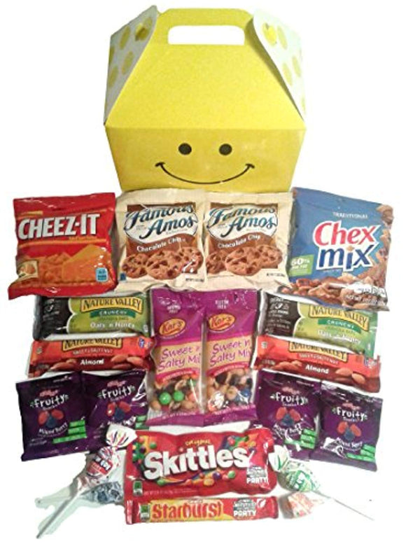 Smile Snacks Care Package features fun Gift Box stuffed with savory snacks
