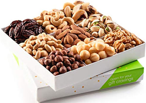 Holiday Mixed Nuts Gift Basket, Gourmet Mix of Assorted Fresh Nuts Food Tray
