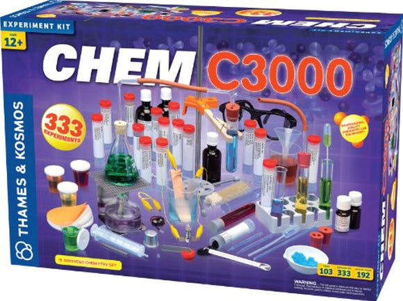 Thames & Kosmos Chem C3000 (V 2.0) Chemistry Set with 333 Experiments & 192 Page Lab Manual