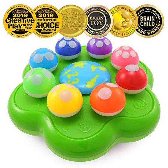 BEST LEARNING Mushroom Garden - Interactive Educational Light-Up Toddler Toys for 1 to 3 Years Old Infants & Toddlers
