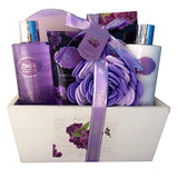 Spa Gift Basket, Spa Basket with Lavender Fragrance, Lilac color by Lovestee - Bath and Body Gift Set