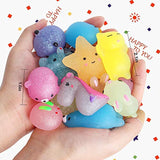 Outee Mochi Squishies Animals, 40 Pcs Mochi Squishies Toys 2nd Generation Mini Toys Stress Relief Squishies Random Animals Squishies Toys