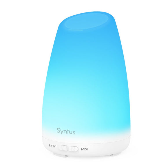 Syntus 150ML Essential Oil Diffuser Ultrasonic Aromatherapy Light Wood Grain Diffusers