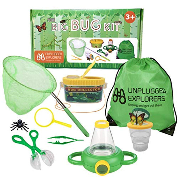 Unplugged Explorers 10 Piece Bug kit for Kids, Outdoor Toy