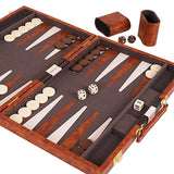 "Kangaroo's 14.75"" Faux Leather Vinyl Backgammon Set"