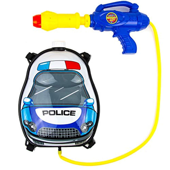 Toysery Police Truck Backpack Watergun - Best Gift for Kids