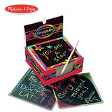Melissa & Doug Scratch Art Box of Rainbow Mini Notes, Arts & Crafts