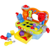 SGILE Multifunctional Musical Learning Tool Workbench Set with Shape Sorter Tools for Toddlers