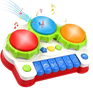 AMOSTING Musical Toys, Music Piano Keyboard Drums Learning Toy for Kids