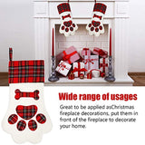 Pet Dog Christmas Stockings Hanging Christmas Stockings with Large Paw