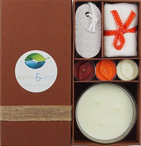 Earth & Sea Spa Essentials Aroma Candle Gift Set