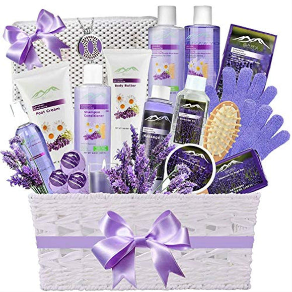 Premium Deluxe Bath & Body Gift Basket. Ultimate Large Spa Basket!