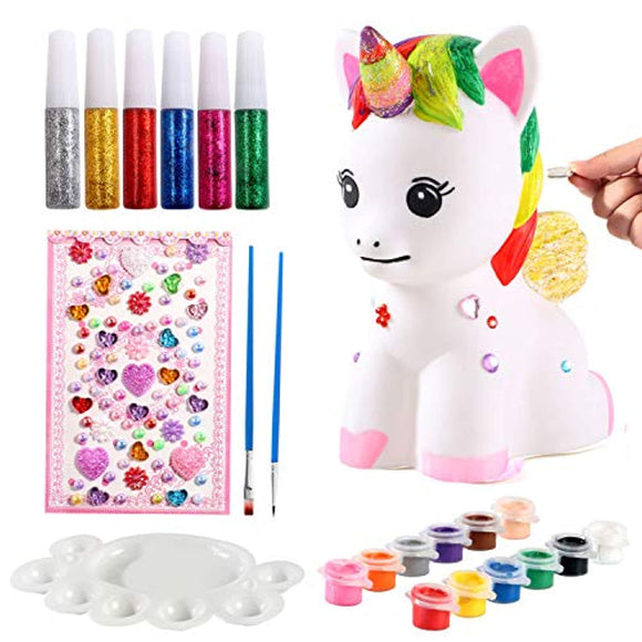 ACEHOOD Unicorn Gift for Girls Paint Your Own Unicorn DIY Craft Paint Art