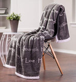 Get Well Soon Gift for Women Men Cancer Patient Super Soft Plus Fleece Sherpa Microfiber Comfort Caring Gift Throw Blanket