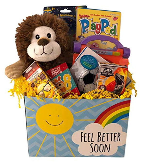 Deluxe Boys Feel Better Soon Get Well Gift Basket Care Package For Kids