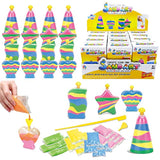 12 Pack Create Your Own Colored Sand Art Kits - Includes 12 Bottles, Funnels, Sticks, 48 Bags of Sand