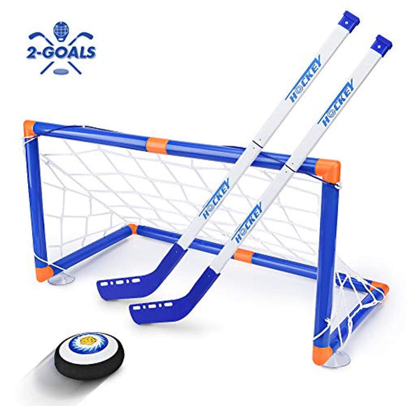 STREET WALK Kids Toys - LED Hockey Hover Set 2 Goals Mini Screwdriver