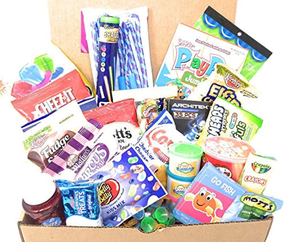 Kids Big Box of Fun Treats and Care Package - Childrens Gift Basket Perfect for Get Well