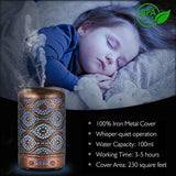 Ultrasonic Cool Mist Essential Oil Diffuser, ARVIDSSON Metal Aromatherapy Diffusers for Essential Oils, Cool Mist Humidifier with 7 Colors LED Night Light for Home, Office