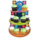 Monster Cupcake Stand & Pick Kit, Monster Party Supplies, Monster Decorations