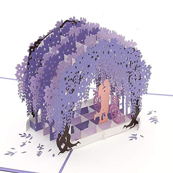 Liif Wisteria Arch Love Pop Up Card For All Occasions, Happy Birthday Card For Wife
