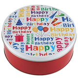 Happy birthday gift basket Tin filled with 21 individually hand decorated assorted colored black and whites. 7 bright colors Great Birthday Gift idea