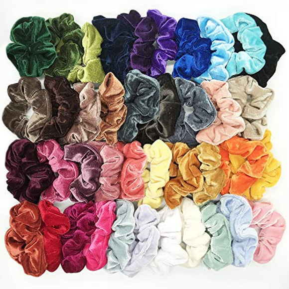 40 Pcs Hair Scrunchies Velvet Elastic Hair Bands Scrunchy Hair Ties Ropes