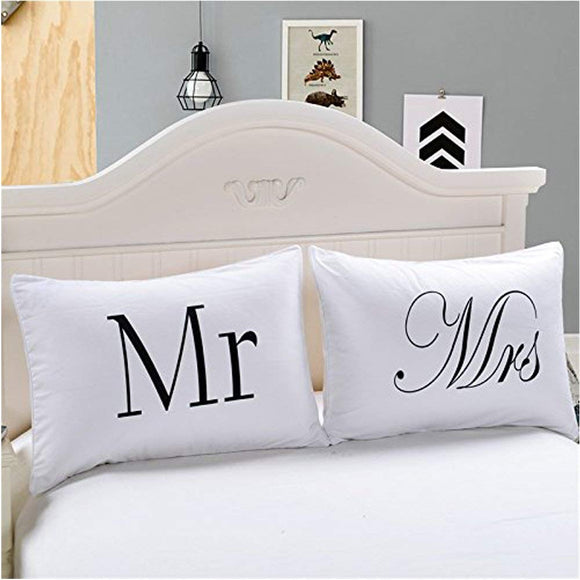 "Couples Pillow Cases, ""I Love You""&""I Know"" Couple Pillow Covers"