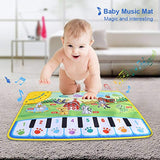 Fdit Keyboard Play Mat Baby Electronic Piano Music Animal Sounds Musical Keyboard