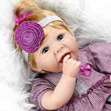 Aori Reborn Baby Doll 22 Inch Handmade Realistic Laughing Baby Doll with Soft Body for Girls