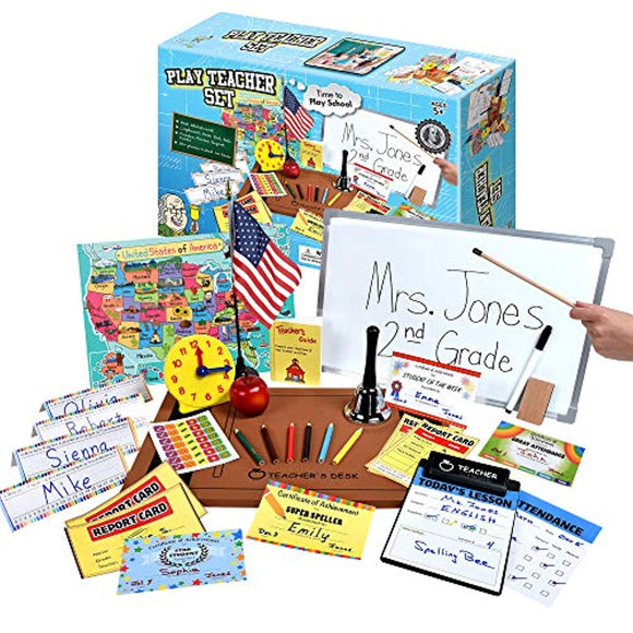 Ben Franklin Toys Play Teacher Role-Play Set Includes Reusable White Board