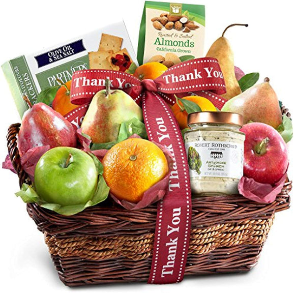 Thank You Classic Gourmet Fruit Basket Gift