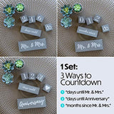 Engagement Gifts for Couples and Her, Bride to Be | Wedding Countdown Calendar Block