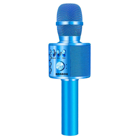 BONAOK Wireless Bluetooth Karaoke Microphone,3-in-1 Portable Handheld karaoke Mic