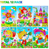 Mosaic Stickers Art Kits for Kids 12 Pack DIY Handmade Art Crafts for Kids