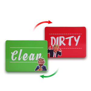 Dishwasher Magnet Clean Dirty Sign,