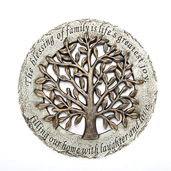 Roman Exclusive Terrace Garden Stone with a Tree and Verse