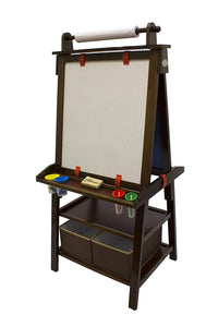 Little Partners Deluxe Art Easel - Two Sided A-Fram Paint Easel, Chalk Board & Magnetic Dry Erase